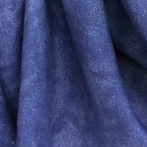 tissu lin bleu effet chiné