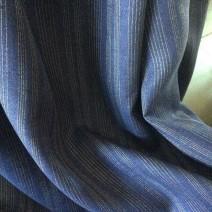 Tissu lin bleu marine