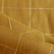 Tissu en lin et viscose jaune
