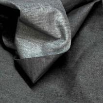 Tissu lin imprimé Gris
