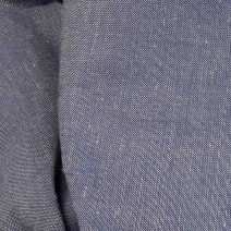 Tissu lin polyester bleu et blanc