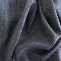 tissu polyester laine à rayures tennis