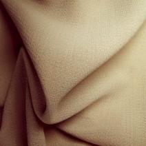 Tissu polyester laine crêpe beige