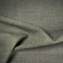 Tissu polyester laine gris extensible