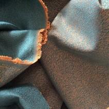 Tissu en polyester jacquard turquoise
