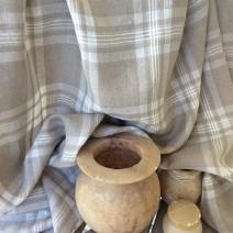 Tissu pour nappe tissu beige ficelle