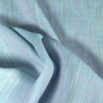 tissu lin rayé bleu