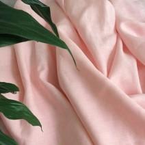 rideau lin tissu rose pale