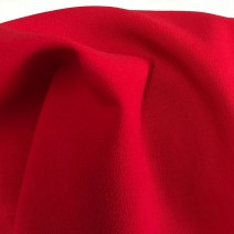 tissu triple crêpe tissu rouge Cardailhac
