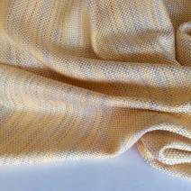 Tissu tweed rayures jaune orangé