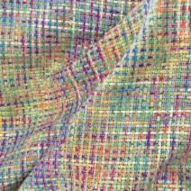 Tissu tweed arc-en-ciel