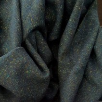 Tissu tweed bleu vert