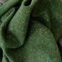 Tissu tweed vert foncé