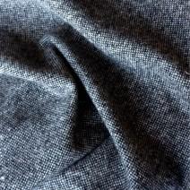 Tissu tweed laine  bicolore noir et blanc