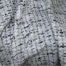 Tissu tweed blanc et noir