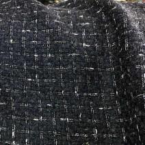 Tissu tweed bleu gris et blanc cardailhac