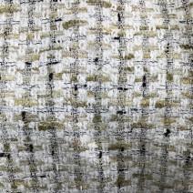 Tissu tweed carreaux beige