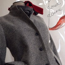 couture manteau tweed