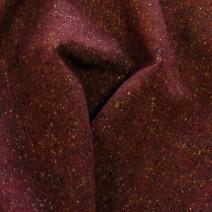Drap de laine tweed bordeaux effet chiné