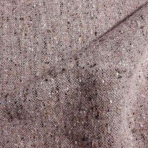 Tissu tweed de laine tradition gris