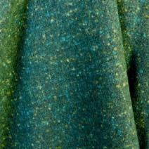 Tissu tweed de laine tradition vert effet chiné jaune