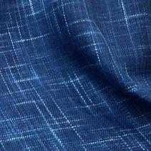 Tissu tweed flammé bleu