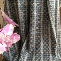 Tissu tweed gris