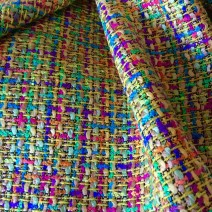 Tissu tweed multicolore vif