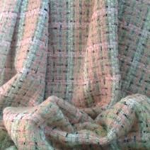 Tissu tweed rideau rose