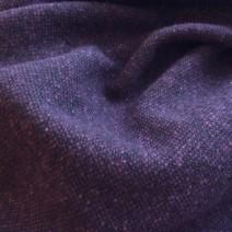 Tissu tweed laine bicolore noir aubergine