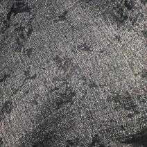 Tissu de laine noir et blanc