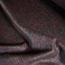 Tissu au metre flanelle laine viscose bordeaux