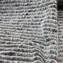 Tissu mohair de laine noir et blanc