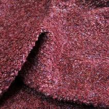 Tissu tweed bouclettes bordeaux