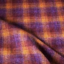 Tissu écossais en laine viscose violet
