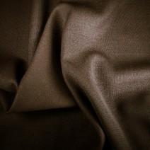 Tissu polyester laine marron double crêpe