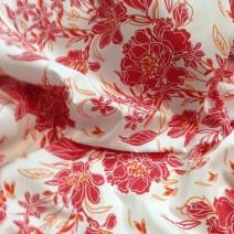 Tissu polyester-viscose imprimé pour chemisier, robe