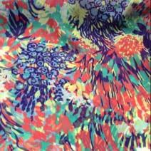 Tissu polyester voile imprimé floral