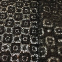 Tissu laine mohair noir