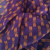 Tissu polyester imprimé papillon