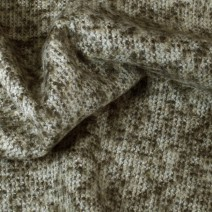 Tissu tweed mohair marron