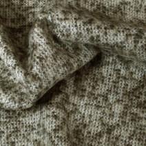 Tissu tweed mohair marron