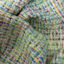 Tissu tweed multicolore