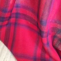 tissu carreaux fuchsia