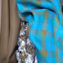 tissu ameublement turquoise