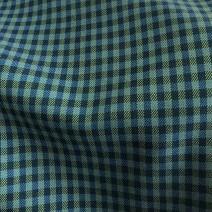 Tissu carreaux vert et bleu tissus au metre