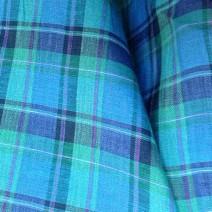 Tissus écossais en lin bleu