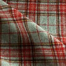 Tissu ecossais en laine rouge et gris