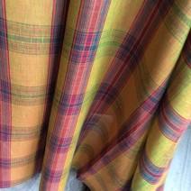 Tissus écossais en lin jaune