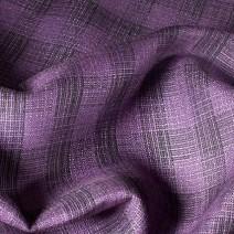 Tissus écossais en lin violet